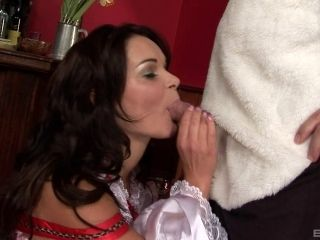 Brunette Babe In Costume Gets Naughty In This Hardcore Action