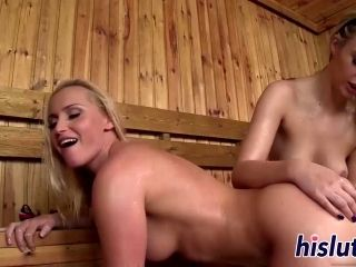 Kinky Girl-On-Girl Action In The Sauna (2)