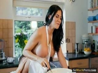 Huge boobs mature banged in the kitchen (2)