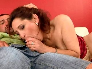 Ruined Brunette Granny Gets Her Bearded Vagina Hammered Doggy Style