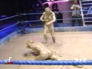Catfight Rare celebrity nude wwf  The kat  ivory topless mud wrestling(1).mpg