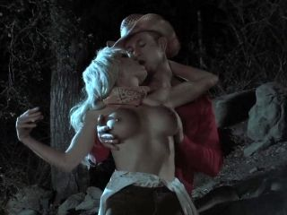 YEE-HAW! Busty Wild West MILF gives cowboy expert blowjob by campfire! (2)
