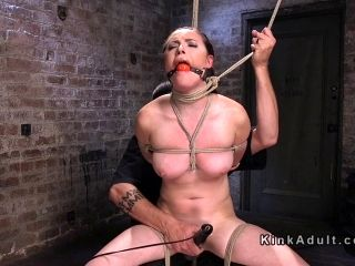 Female Sub Got Several Brutal Bondages (3)