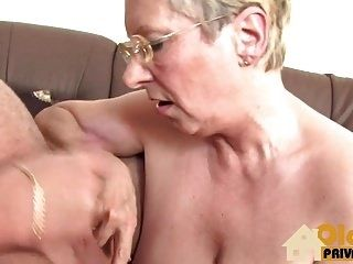 Blonde Granny and her affair (3)