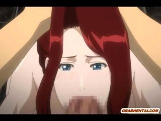 Bigboobs Japanese anime mom fucking bigcock in the restroom (7)