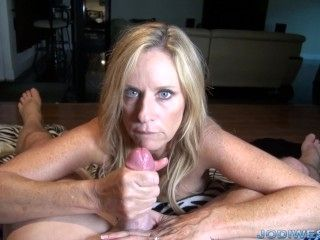Jodi West in Stepmom's Handjob