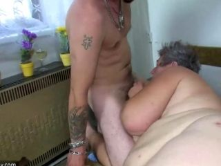 OldNanny Group sex, chubby granny and fat mature are horny (14)