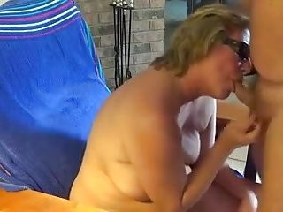 Mom Janet In Vacation Cock-Suckin' Action