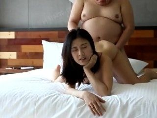 Fat Ugly Guy With Gorgeous Prostitute Woman