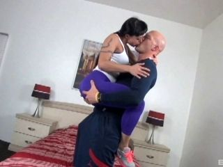 Tattooed Brunette Pornstar Gets Spooked Hardcore In An Enticing Bed Sex Shoot (2)