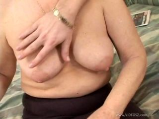 Blonde granny Evelin blows and gets her twat pounded hard