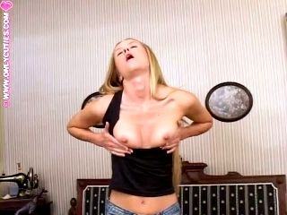 Traci Moans Loudly While Pounding Her Ass And Vag With A Dildo