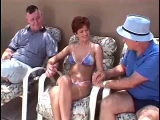 Mature Amateur Takes on Several Guys at the Same Time
