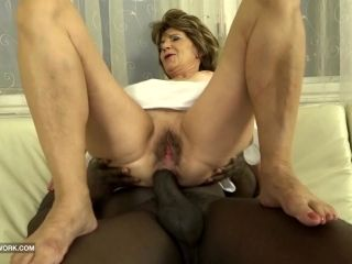 Hairy Old Pussy and Ass FUCK with big cock black man (3)
