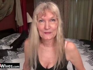 USAWives slim blonde granny Cindy solo play (7)