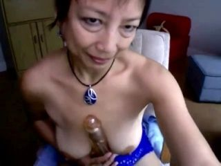 Asian Mom 54 Toying On Home Webcam (3)