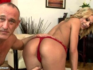 Divine blond babe Niky Gold sucks his cock for playing with her pussy