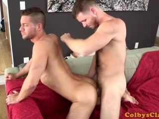 Athletic Hunk Cums While Analized By Coach (5)