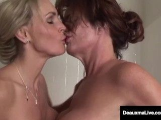 Busty Milf Deauxma Has Pussy Licking Bath with Tanya Tate! (2)