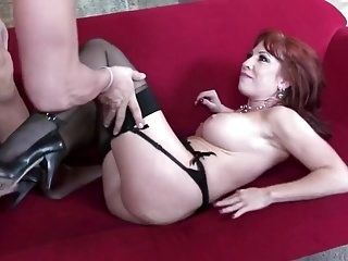 Bald Dude Is Fucking A Milf Shaved Redhead.