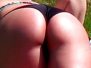 Candid - Sexy Big Bikini Ass At The Public Swimming Pool