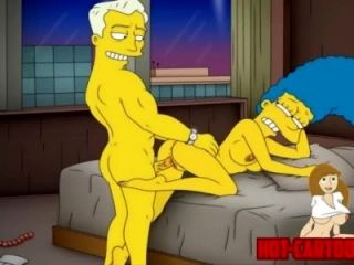 Maman de Cartoon Porn Simpson porno Marge s'amuser