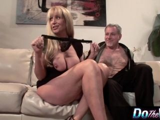 Blonde MILF fucks in front of her husband (2)