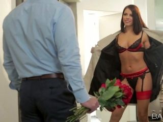 Romantic date with a sweet looking babe Adriana Chechik