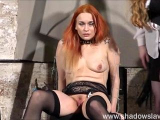 Dirty Mary lesbian pussy whipping and amateur bdsm of play piercing redhead