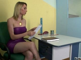 Bubbly Shemale With Big Tits Gets Wild Blowjob In Office