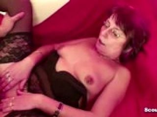 Step-Mom Caught Son Watch Porn and Help with Fuck (2)
