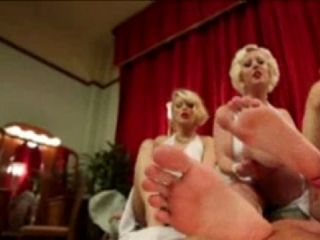 Guy With Foot Fetish Fucking Three Blonds