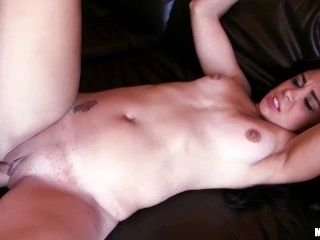 Latina chick Celina Santiago takes a break from gaming for some dick