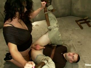 BDSM Ass Fucking for Bounded Dude by Dominant Tranny