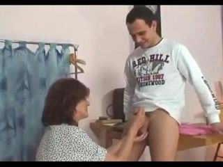 GrannyBet - Sewing granny jumps on fresh cock (2)