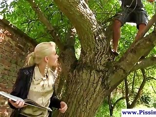 Pee Drenched Eurobabe Fucked Outdoor (2)