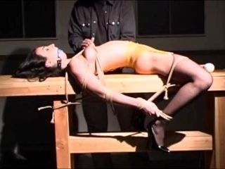 Slave Tied  Cropped  Clamped  And Vibed To Cum