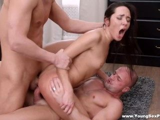 Young Sex Parties - DP for gorgeous nubile (6)