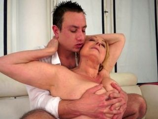 Young Pervert Enjoys Eating Chubby Shaved Pussy Of Fat Mature