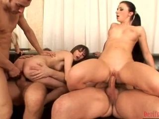 Bunch Of Hotties And Dudes Are Having A Creampie Orgy