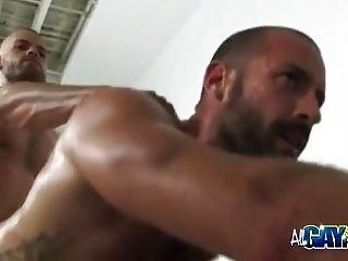 Ass Fucking Hairy Gym Mates And Cumshots (2)