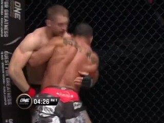 Big pec muscle stud, Gilbedrto Galvao, is KTFO and left tits up on the mat