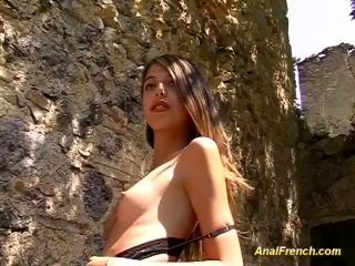 Beauty French Teen Enjoys Her First Outdoor Anal Sex