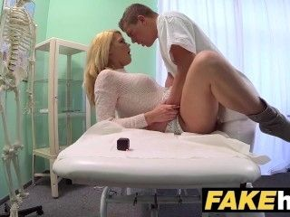 Fake Hospital Dirty doctor gives blonde Czech babe wet panties (2)
