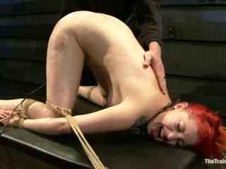 Redhead Sloane Soleil get punished in extreme BDSM video