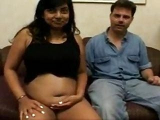 Sexy pregnant Indian teen fucks for the camera