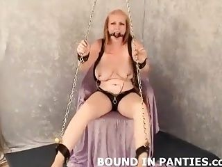 Please Help Me Get Out Of These Ropes And Ball Gag (2)