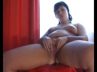 Chubby Plumper GF loves to show her wet pink pussy lips