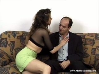 Brilliant Cougar In Miniskirt Yelling While Being Drilled Hardcore Doggy Style