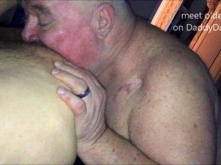Chubby Grandpa Siverdaddy Sucks Uncut and Rims my Ass Real Deep